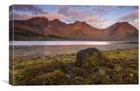 Blaven Range Across Loch Slapin, Canvas Print