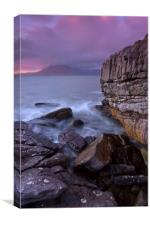 The Cuillin Ridge From Elgol, Canvas Print
