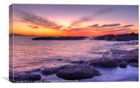 Sundown at Troon, Canvas Print