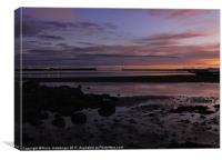 North beach Ardrossan Sunset, Canvas Print
