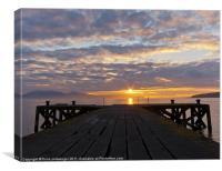 Portencross jetty Sunset, Canvas Print