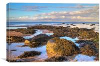North beach Ardrossan morning 3, Canvas Print