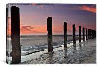 Morning Post at Stevenston Beach, Canvas Print