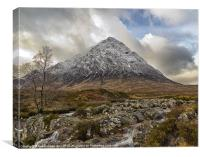 Snow Capped Buachaille Etive Mor, Canvas Print