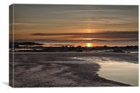 Sunset at North Beach, Canvas Print