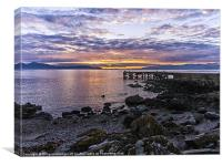 Sunset at Portencross Jetty, Canvas Print