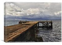 Portencross view to Arran, Canvas Print