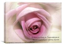 So show your Beauty, Canvas Print
