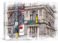 15th Street Glagow, Canvas Print