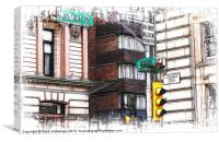 The Corner of 15th & Market, Canvas Print