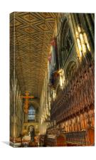 The Pipes & Pews, Canvas Print