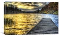 Loch Ard Sunset at the Jetty, Canvas Print