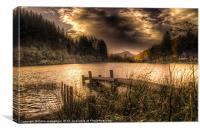 Loch Ard sunset, Canvas Print