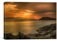 Sunset over Lismore Island, Canvas Print