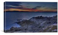 Sunset From portencross, Canvas Print