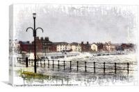 Saltcoats Promenade, Canvas Print