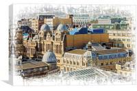 Glasgow Domes, Canvas Print