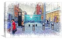 Buchanan Street Subway, Canvas Print
