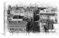 Up on the Rooftops of Glasgow, Canvas Print