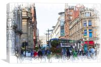 Buchanan Street, Canvas Print