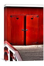 Lovely Red doors, Canvas Print