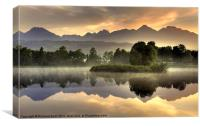 Slovakian Dawn, Canvas Print