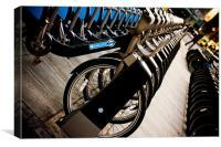 London bikes, Canvas Print