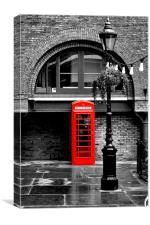 British Red phonebox, Canvas Print