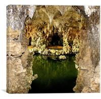 Deep into the grotto, Canvas Print