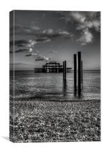 West pier at Brighton, Canvas Print