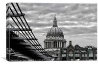 St Paul's Cathedral Monochrome, Canvas Print