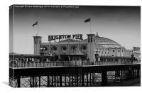 Dark days of the pier, Canvas Print