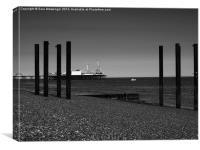 Pier-ing through the struts , Canvas Print