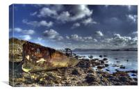 Chesil Beach Wreck, Canvas Print