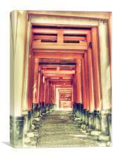 Torii Gate Tunnel, Canvas Print