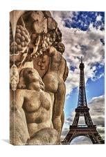 Nudes at the Eiffel, Canvas Print