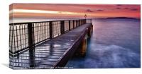 'Pier'ing at Portland, Canvas Print