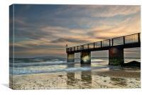 Sundown on the Beach, Canvas Print