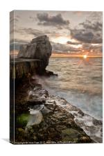 Sun Blast at Pulpit, Canvas Print