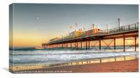 Paigntn's Sun Kissed Pier, Canvas Print