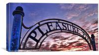 The Pleasure Pier, Canvas Print