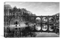 Reflecting in Knaresborough, Canvas Print