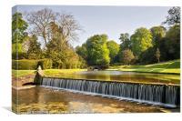 Fountains Abbey Cascade, Canvas Print
