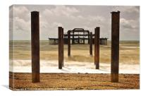 Brighton's West Pier Waves, Canvas Print