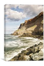 Whitby Waves, Canvas Print