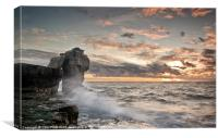 Sundown at Pulpit Rock, Canvas Print