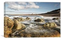 Chesil Cove Swell, Canvas Print