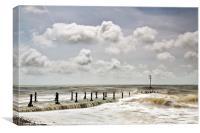 Storm Seas at Brighton Pier, Canvas Print