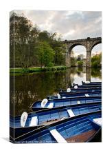 Knareborough Boats, Canvas Print