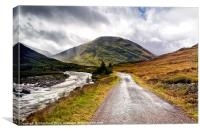 Road to Glen Coe, Canvas Print